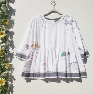 Anthropologie Holding Horses Embroidered Blouse S